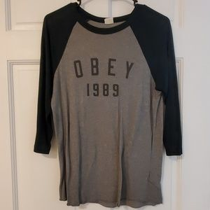 Obey 1989 Phys-Ed  3/4 Tee